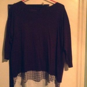Ann Taylor Sweater with Beautiful Blouse attached
